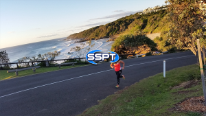 SSPT Running in front of 1st bay Coolum